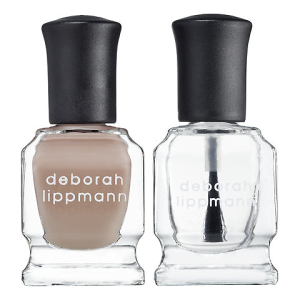 DEBORAH LIPPMANN nail lacquer & top coat duo naked - A two-piece set featuring Deborah Lippmann's bestselling...