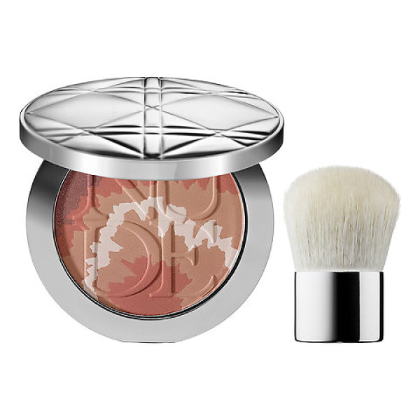 DIOR skin nude tan healthy glow enhancing powder tye dye edition 002 coral sunset - An enhancing cheek powder that blends together four shades...