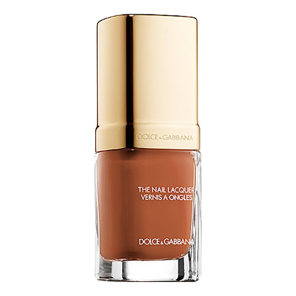 DOLCE & GABBANA the nail lacquer 120 caramel - A nail lacquer with color-rich shades and textures that...