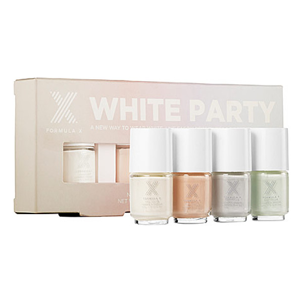 FORMULA X white party - A limited-edition, four-piece set of mini nail polishes in...