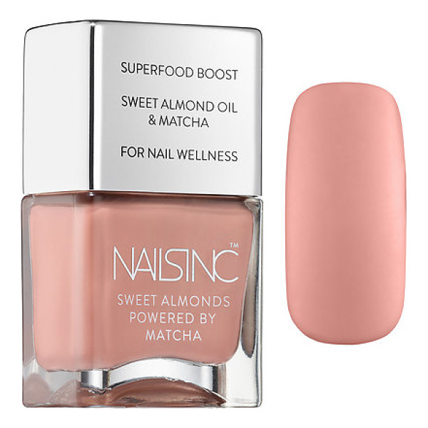 NAILS INC. sweet almond nail polish powered by matcha king william walk - A nail polish powered by superfood matcha and infused with...