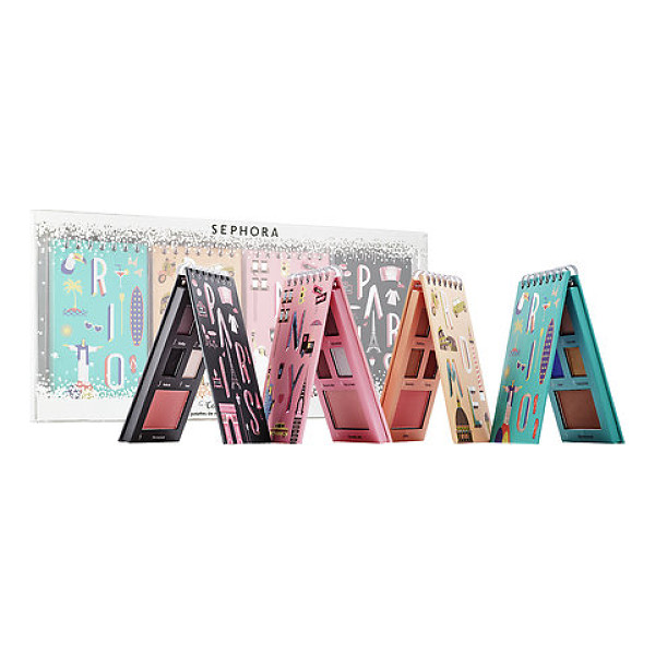 SEPHORA COLLECTION color around the world: 4 eye & face palettes - A set of four color-coordinated palettes with four eye...