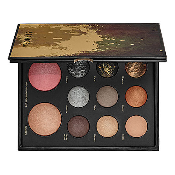 "SEPHORA COLLECTION mixed metals baked eye and face palette 4""w x 5 15/16""h x 3/4""d - A baked eye and face multi-palette for the season's hottest..."