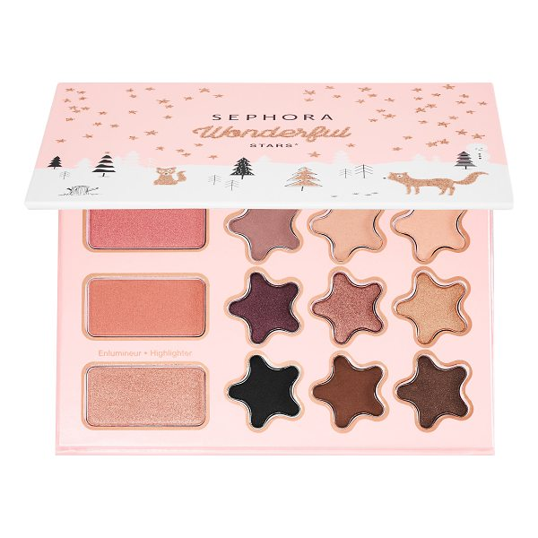 SEPHORA COLLECTION Wonderful Stars Eye and Face Palette 8 x - A palette for face and eyes with eyeshadows, blushes, and...