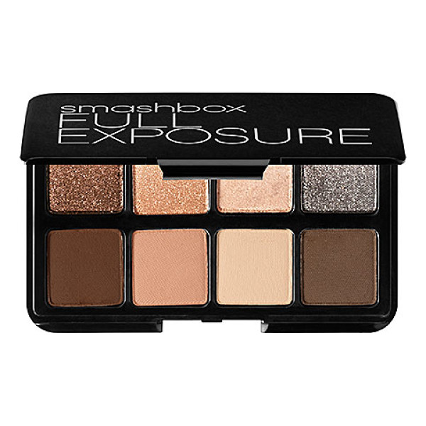 SMASHBOX full exposure travel palette - A travel-size palette of eight, universal neutral shadows....