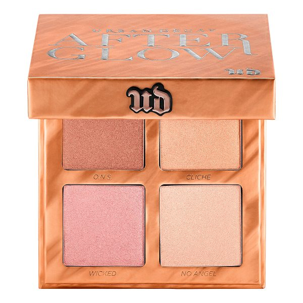 URBAN DECAY Afterglow Highlighter Palette 4 x - A slim palette with four all-new shades of Afterglow...