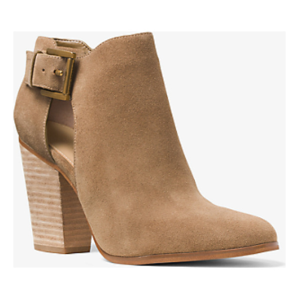 MICHAEL KORS Adams Suede Ankle Boot - Subtle Cutouts Add An Alluring Edge To These Otherwise...