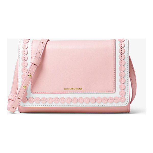 MICHAEL KORS Analise Medium Leather Messenger - When It Comes To Analise It's All About The Details....