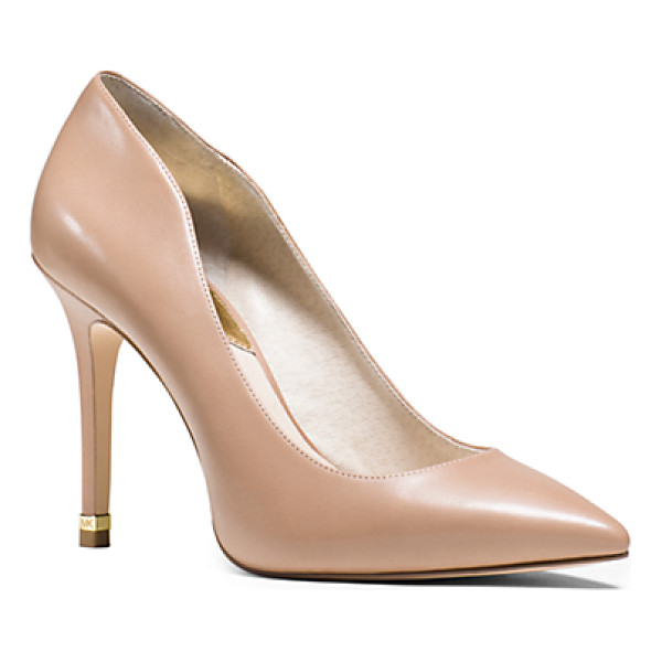 MICHAEL KORS Arianna Leather Pump - Falls Tweeds And Textures Need A Sleek Shoe To Ground Them...