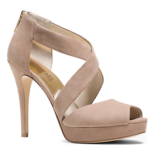MICHAEL KORS Ariel Suede Platform Sandal - Our Ariel Platforms Fuse A Sultry Silhouette With...