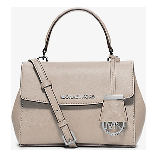 MICHAEL KORS Ava extra-small saffiano leather crossbody - Downsize your carryall for days on the go. This compact...