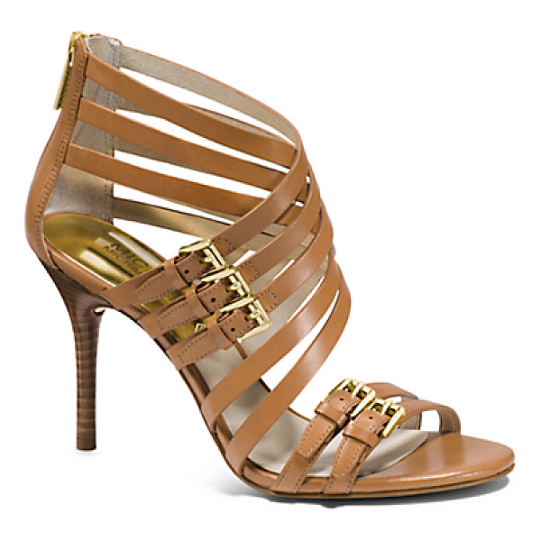 MICHAEL KORS Ava Leather Sandal - Our Avas Offer The Allure Of A Cage Heel In Sleek Sandal...