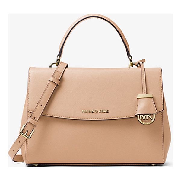 MICHAEL KORS Ava medium saffiano leather satchel - This decidedly ladylike take on the top-handle bag...