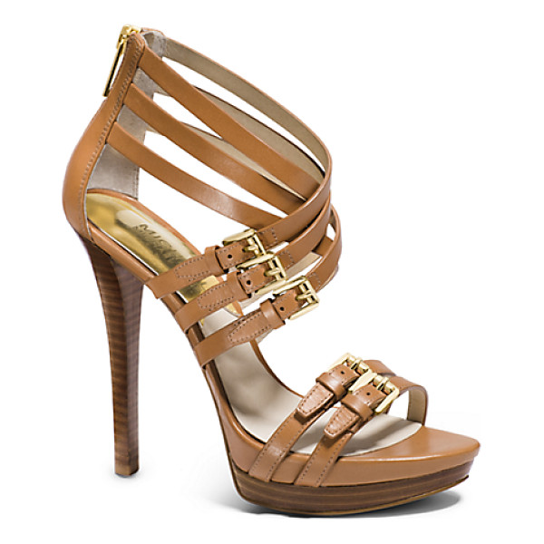 MICHAEL KORS Ava Leather Platform Sandal - Crafted From Luxe Vachetta Leather Our Ava Platform Sandals...
