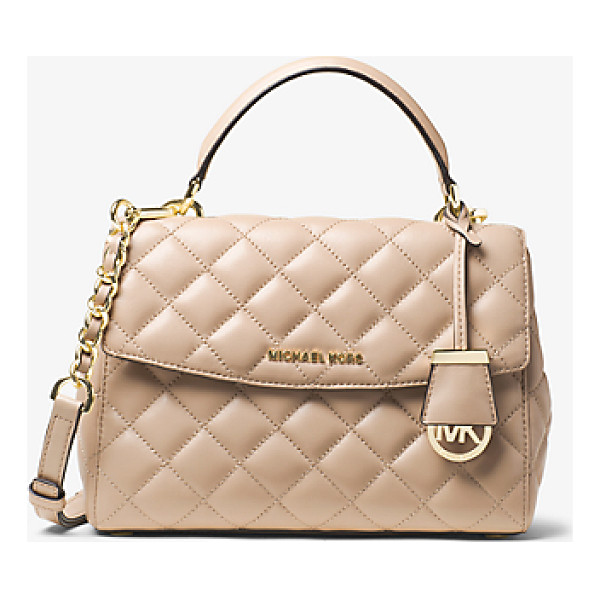 MICHAEL KORS Ava small quilted-leather satchel - Quilted stitching punctuates the soft yet structured shape...