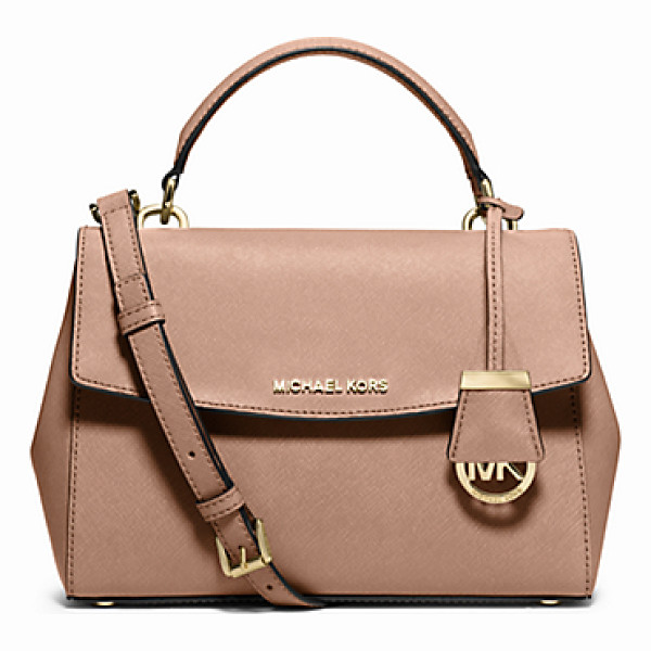 MICHAEL KORS Ava Small Saffiano Leather Crossbody Satchel - This Decidedly Ladylike Take On The Top-Handle Bag...