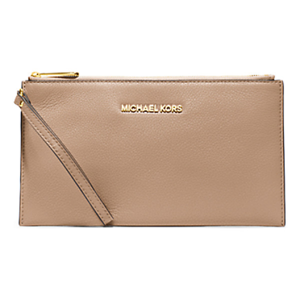 MICHAEL KORS Bedford large leather zip clutch handbag - Our not-so-basic Bedford clutch in soft Venus leather is a...