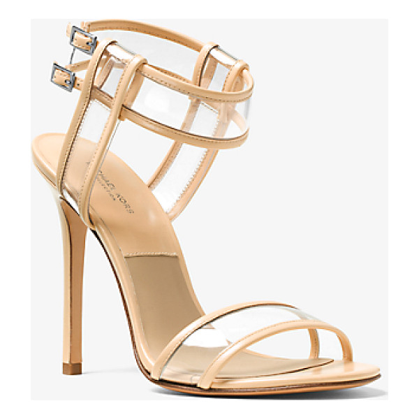 MICHAEL KORS Brittany Leather And Vinyl Sandal - Modern Meets Minimal In Our Brittany Sandals. Delicate...