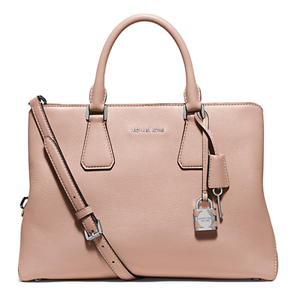 MICHAEL KORS Camille large leather satchel - The key to refinement. Crafted from soft pebbled leather...