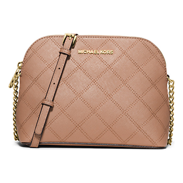 MICHAEL KORS Cindy large quilted-leather crossbody - The effortless crossbody reinvented with sophisticated...