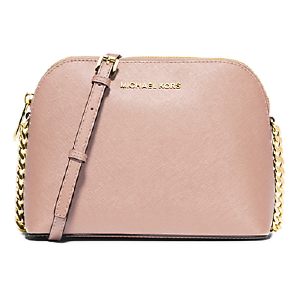 MICHAEL KORS Cindy large saffiano leather crossbody - Never before has a crossbody looked so sophisticated. We...