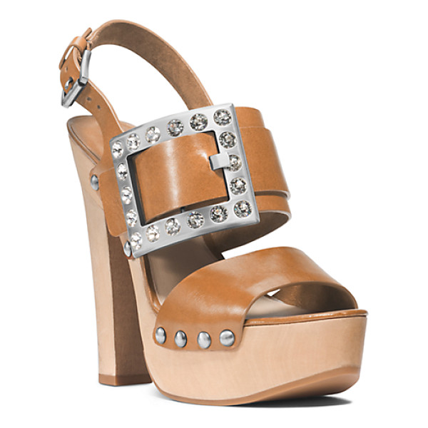MICHAEL KORS COLLECTION Alena Vachetta Leather Sandal - There's No Better Way To Offset All Of The Romantic...