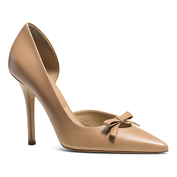 MICHAEL KORS COLLECTION Alessandra Leather Bow Pump - Bows Are Very Important To My Transeason Collection Says...