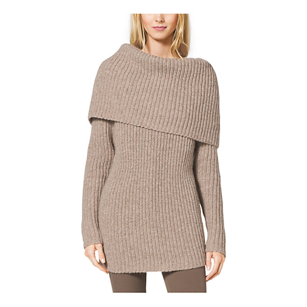 MICHAEL KORS COLLECTION Alpaca Merino - Fall's Knitwear Mixes A Casual Attitude With A Luxurious...