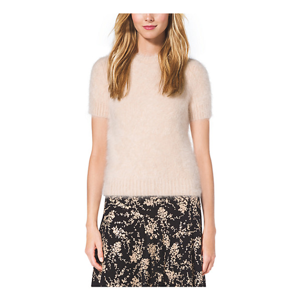 MICHAEL KORS COLLECTION Angora T-Shirt - As Sumptuous As It Is Simple Our Angora Top Is Cast In A...