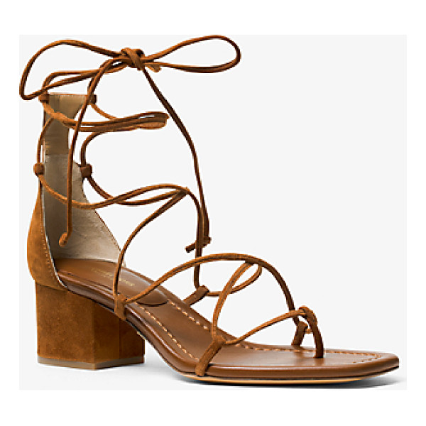 MICHAEL KORS COLLECTION Ayers Suede Lace-Up Sandal - Set On A So-Now Block Heel The Ayres Sandal Showcases...