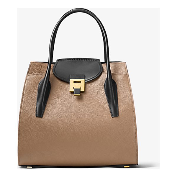 MICHAEL KORS COLLECTION Bancroft Large Calf Leather Satchel - The Bancroft Satchel Evokes A Laid-Back Timeless Glamour In...