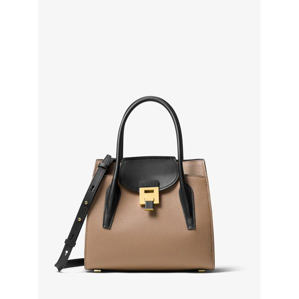 MICHAEL KORS COLLECTION Bancroft Medium Leather Tote - Cast In Contrasting Hues For A Modern Touch The Bancroft...