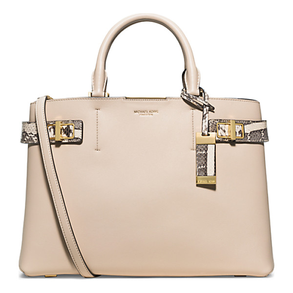 MICHAEL KORS COLLECTION Bette Large Leather And Python Satchel - Meet Bette A Fresh Take On Modern Luxury. Thoughtfully...