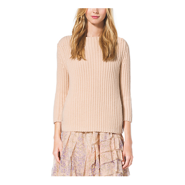 MICHAEL KORS COLLECTION Boatneck Cashmere Sweater - Cast In A Creamy Hue This Cashmere Sweater Offers A Lesson...
