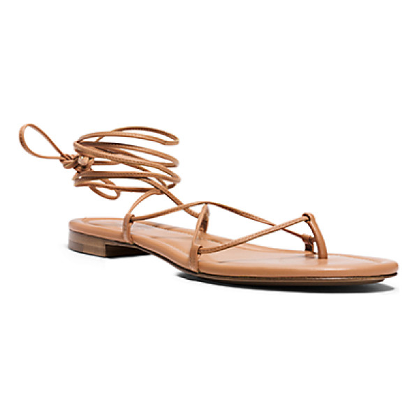 MICHAEL KORS COLLECTION Bradshaw runway leather sandal - Make an understated statement in our Bradshaw sandals. The...