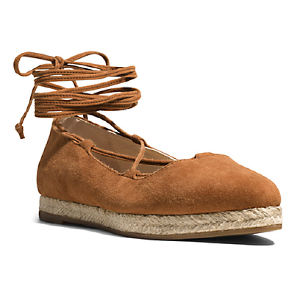 MICHAEL KORS COLLECTION Cadence Suede Flat - I'm Strap Happy Says Michael. A Sleek Pointed-Toe...