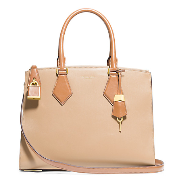 MICHAEL KORS COLLECTION Casey Large Leather Satchel - In My Designs I'm Constantly Striving To Create Something...