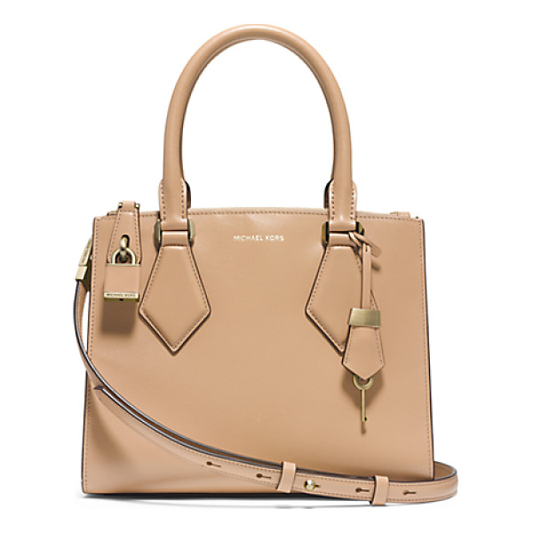 MICHAEL KORS COLLECTION Casey Small Leather Satchel - In My Designs I'm Constantly Striving To Create Something...