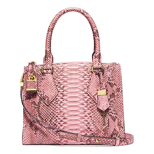 MICHAEL KORS COLLECTION Casey Small Python Satchel - In My Designs I'm Constantly Striving To Create Something...