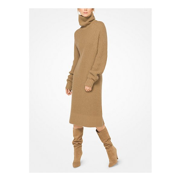 MICHAEL KORS COLLECTION Cashmere And Mohair Sweater Dress - Knit From Sumptuous Cashmere And Mohair This Turtleneck...