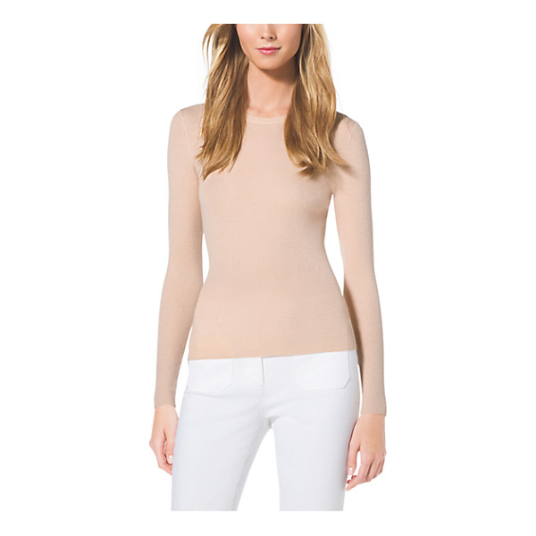 MICHAEL KORS COLLECTION Cashmere Crewneck Sweater - As Easy As It Is Elegant This Crewneck Sweater Is Crafted...