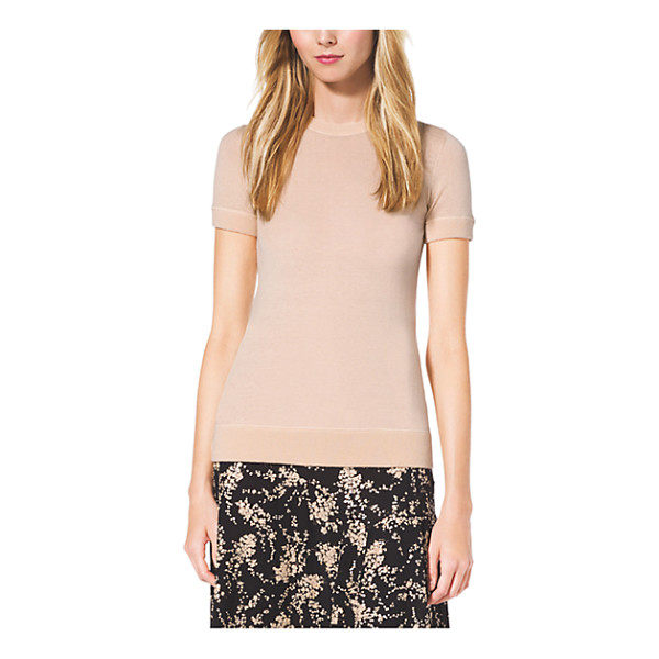 MICHAEL KORS COLLECTION Cashmere T-Shirt - Easy Does It. This Cashmere Pullover Is A Sumptuous Yet...