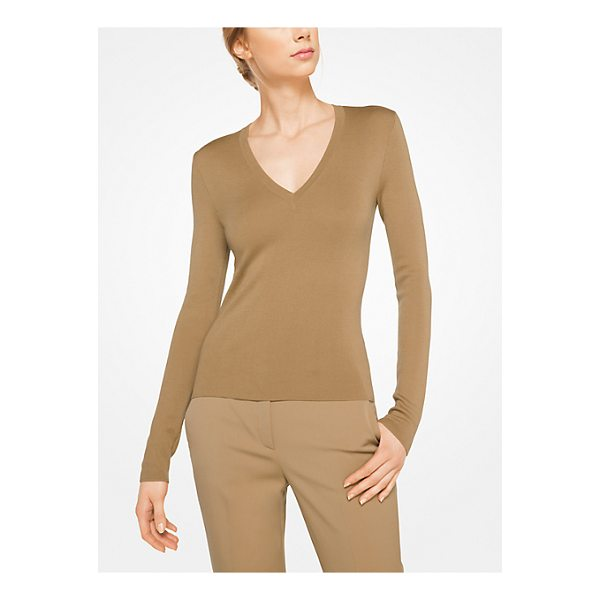 MICHAEL KORS COLLECTION Cashmere V-Neck Pullover - Rendered In Sumptuously Soft Cashmere With A Slim Fit This...
