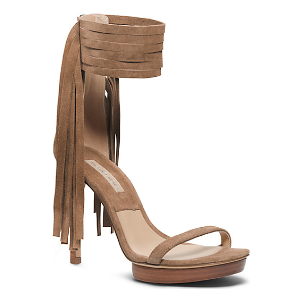 MICHAEL KORS COLLECTION Daphne Suede Sandal - Fall's Fascination With Fringe Has Hit A Sartorial High...