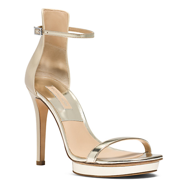 MICHAEL KORS COLLECTION Doris leather pump - Strappy with just the right amount of structure meet Doris....