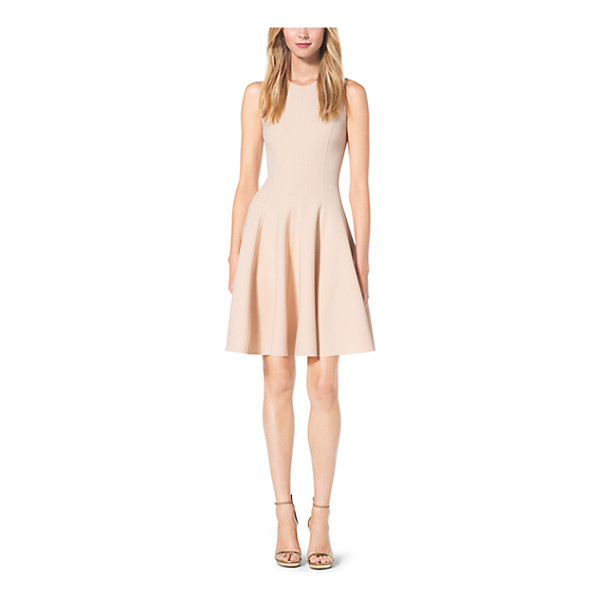 MICHAEL KORS COLLECTION Double-Face Stretch Wool-Crepe Flare Dress - With A Fitted Bodice Princess Seams And Flared Skirt This...