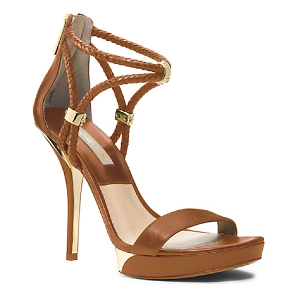 MICHAEL KORS COLLECTION Fariha Leather Platform Sandal - For Spring I Wanted To Play With The Idea Of Blending Says...
