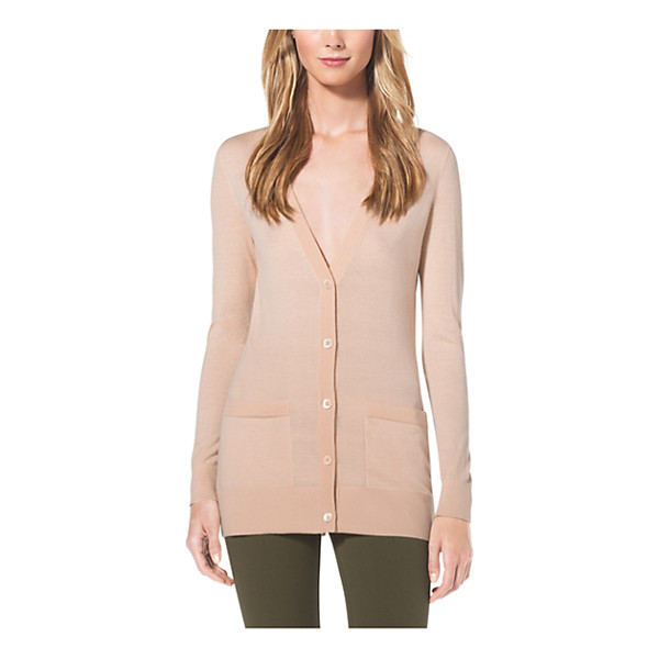 MICHAEL KORS COLLECTION Featherweight Cashmere Cardigan - Traditionally Cozy This Cardigan Lightens Up With A...