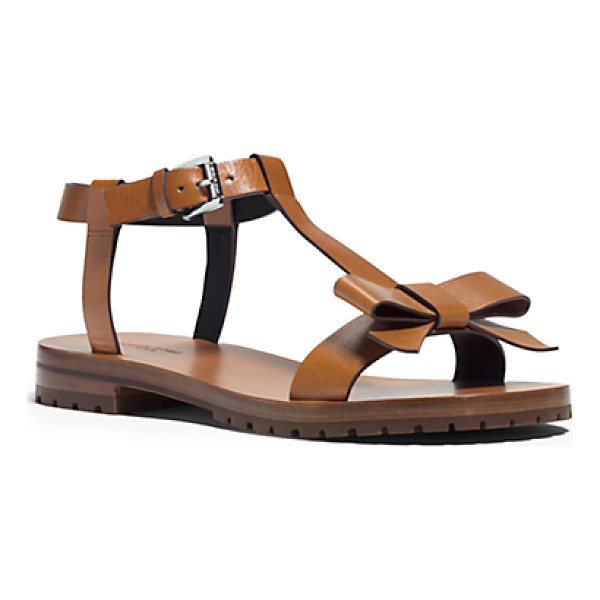MICHAEL KORS COLLECTION Fiona Runway Leather Sandal - I Love The Idea Of Embracing Femininity In A Sporty Way...