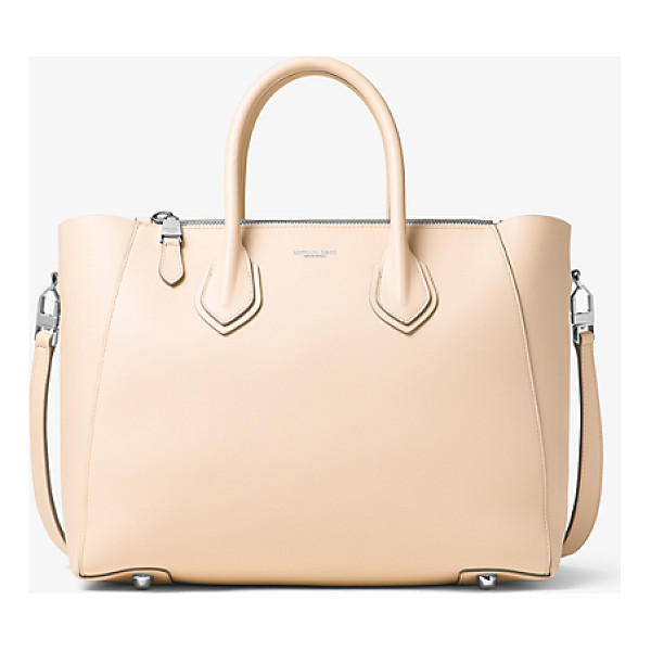 MICHAEL KORS COLLECTION Helena Large French Calf Leather Satchel - A Study In Sleek Steadfast Style The Helena Satchel Is...
